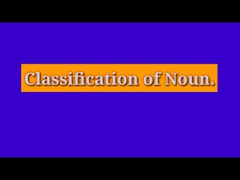 Classification of Noun...Noun এর শ্রেণিবিন্যাস।।।