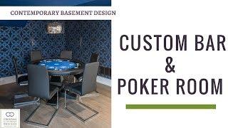 Basement Bar And Poker Room Design