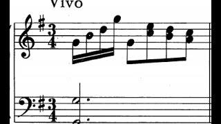 Scarlatti / Pamela Cook, 1967: Sonata in G Major, L 129 / K 201