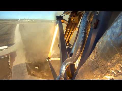 Dagens klipp: ögon- och örongodis från ett test av en raketmotor