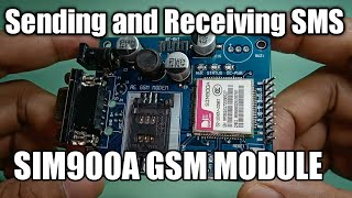 SIM900A GSM Module and Arduino: Sending and Receiving SMS Using AT Commands