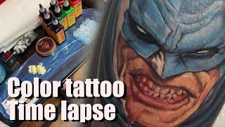 Batman Tattoo Time Lapse
