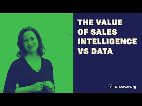 The Value of Sales Intelligence vs Data