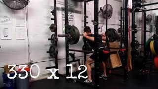 Athlete Squat 330 Pounds x 12 Reps