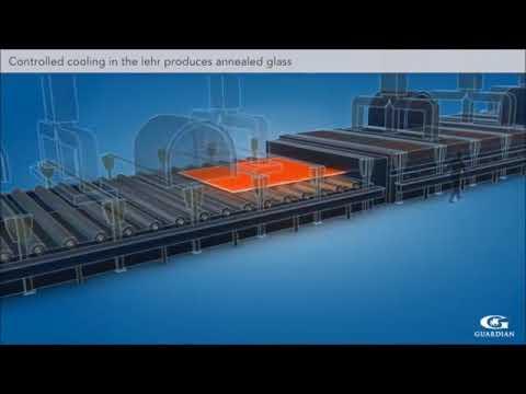 Mô tả quy trình sản xuất kính xây dựng