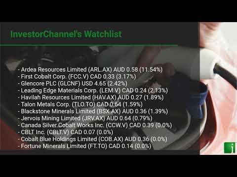 InvestorChannel's Cobalt Watchlist Update for Friday, June ... Thumbnail