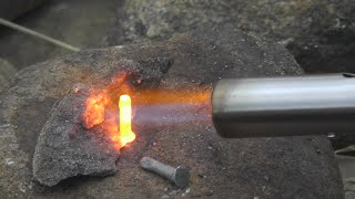 Горелка: плавим медь и алюминий