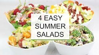 4 Easy Summer Salad Recipes | Healthy + Delicious