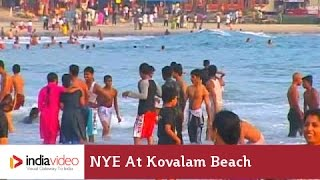 New year celebrations at Kovalam beach