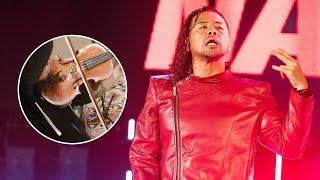 What did violins add to Shinsuke Nakamura's iconic entrance