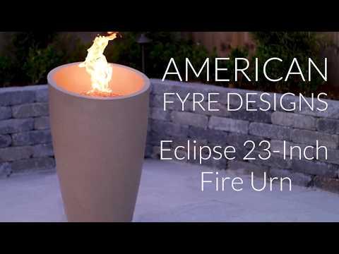 American Fyre Designs Eclipse 23-Inch Fire Urn - Cafe Blanco