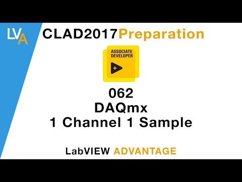 LabVIEW CLAD 062 DAQmx 1 Channel 1 Sample - YouTube
