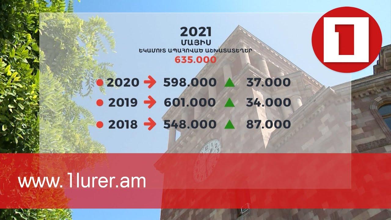 Մայիսին Հայաստանում գրանցվել է աշխատատեղերի ռեկորդային ցուցանիշ. ՊԵԿ