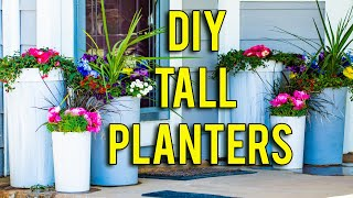How To Make Tall Planters - SO EASY!