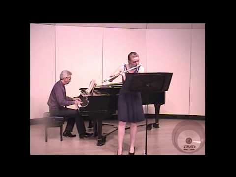 "Kim Davis performing Reinecke Flute Sonata ""Undine"" Fourth Movement."