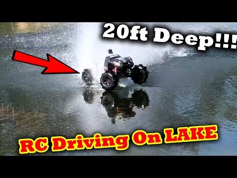 BRAND NEW Traxxas X-Maxx VS DEAP Lake Hydroplane Water Crossing Rc Car On Water Driving On Water