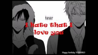 I hate you I love you  male/ deeper version Video
