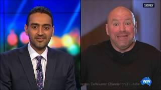 UFC Dana White Vs The Project's Waleed Aly Head To Head Australian Tv Interview!