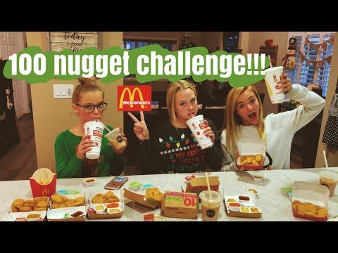 100 NUGGET CHALLENGE!!! spilling tea 🍵 (super funny)