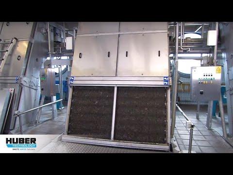 Video: Mechanische Vorreinigung mit HUBER Lochblech-Umlaufrechen EscaMax® und Waschpresse WAP/SL