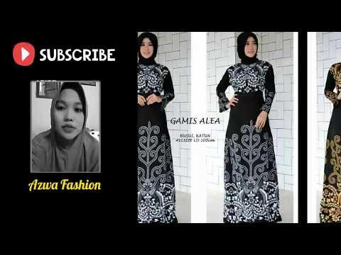 25 Model Gamis Batik Kombinasi Polos Modern Galeri Batik Terbaru