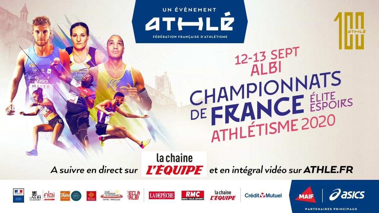 Championnats de France d'athlétisme Elite et Espoirs 2020