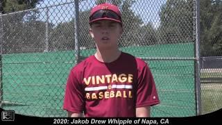 2020 Jakob Drew Whipple Pitcher and Shortstop Baseball Skills Video
