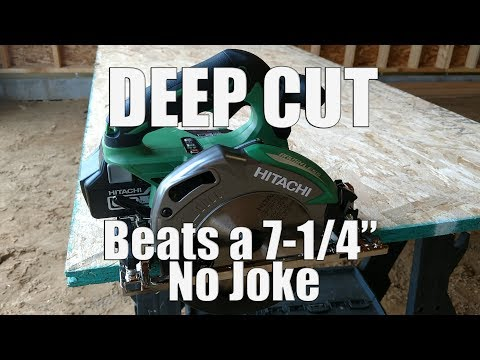 Hitachi C18DBALP4 18-Volt Brushless 6-1/2″ Deep Cut Circular Saw Review