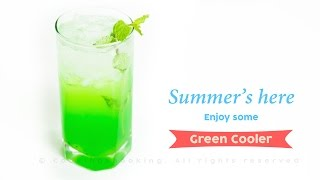 Green Cooler Mocktail Recipe | Quick Easy & Refreshing ~ Summer Drinks