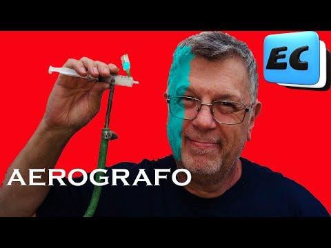 Como hacer un AEROGRAFO super facil!!! Pistola para pintar DIY