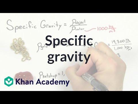 Specific gravity (video) | Fluids | Khan Academy