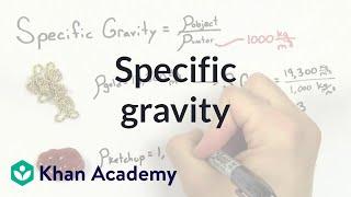 Specific gravity   Fluids   Physics   Khan Academy