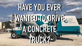 Have you ever wanted to drive a concrete truck?