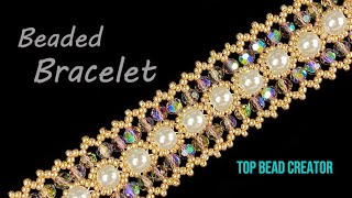 Beaded Bracelet Tutorial, Simple Pattern Beading
