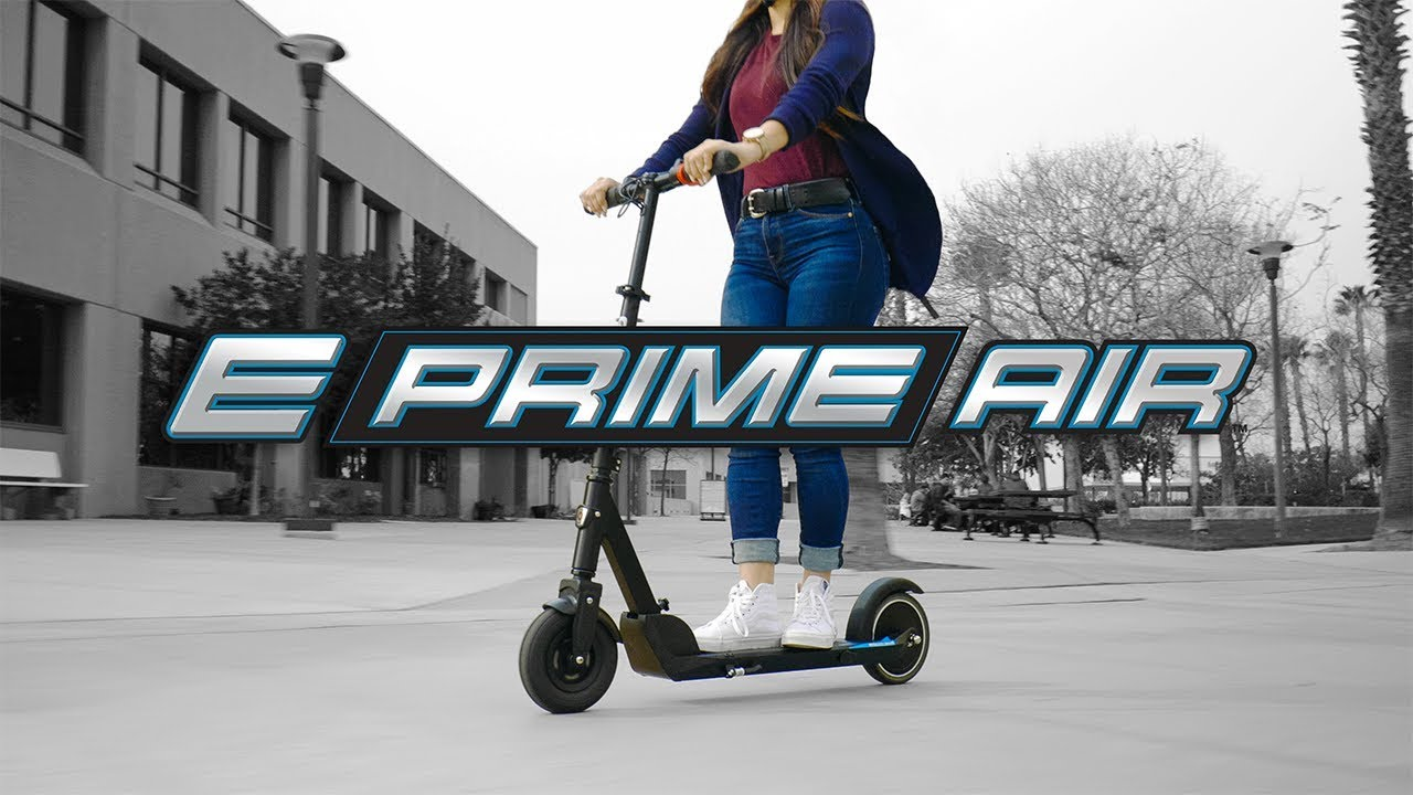 E Prime Air Electric Scooter Ride Video with Features