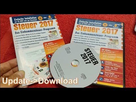 Steuer 2017 Software update über Webseite. Aldi Buhl Tax Service