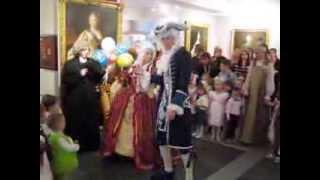 Танец дамы и маркиза на новогоднем балу для принцев и принцесс. 04.01.2013