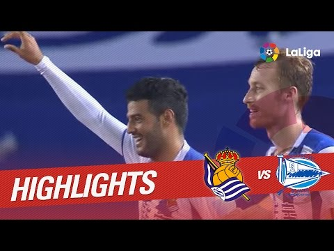 Реал Сосьедад - Алавес 3:0. Видеообзор матча 22.10.2016. Видео голов и опасных моментов игры