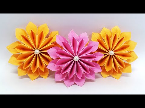 7 Colors Easy Eye Catching Paper Flowers Diy Paper Crafts Ideas