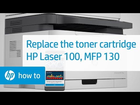 How to Replace a Toner Cartridge in the HP Color Laser 150, MFP 170 Printer Series