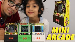 UNBOXING & LETS PLAY! - MINI ARCADES CLASSIC GAMES! - Centipede, Frogger, and Qbert!