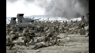 盟军17.6万人,美军2个师8个游骑兵连,2个小时2000人阵亡,二战老兵不忍看下去