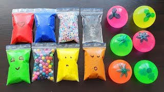 Making Slime with Bags and Water Stress Toys #2
