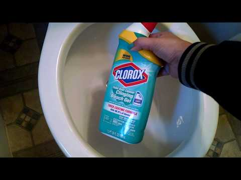 Clorox Toilet Bowl Cleaner- Clinging Bleach Gel- Cool Wave Scent | ASMR Scrubbing & Sudsy Lather!