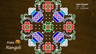 Festive Special Bhogi Kundalu With 16x6 Dots | Pongal Pots Kolam | Sankranthi Muggulu | Make Rangoli
