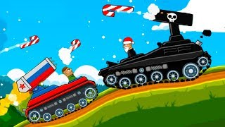 Стальной Босс против Катюши в Hills of steel #2 Советские монстры. Игра о мультике про танки