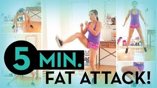5 Minute Fat Attack! by blogilates
