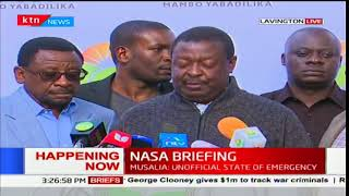 Musalia Mudavadi claims the police is using excessive force on Kenyans