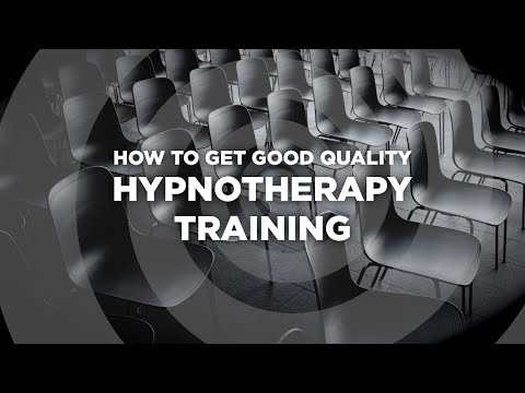 How to get good quality hypnotherapy training - YouTube