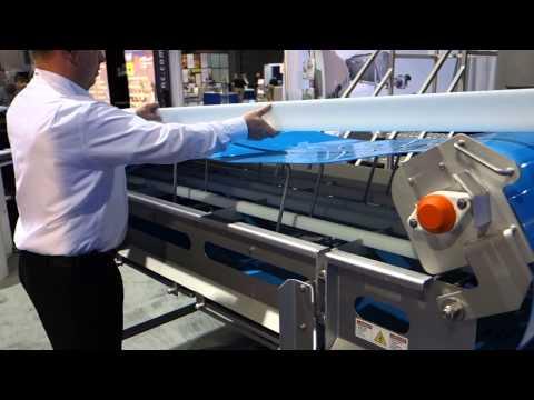 Sanitation Features Demo on Mepaco's New Sanitary Conveyor Sanitary Belt Conveyor